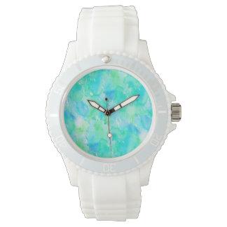 不思議な水彩画の水 腕時計