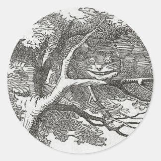 不思議の国およびチェシャー猫のアリス ラウンドシール