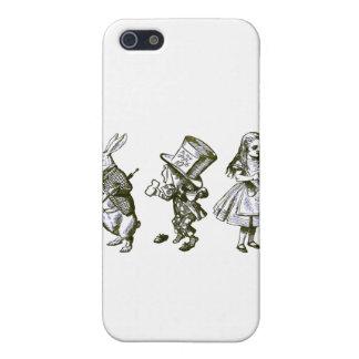 不思議の国からのウサギ、帽子屋及びアリス iPhone 5 CASE