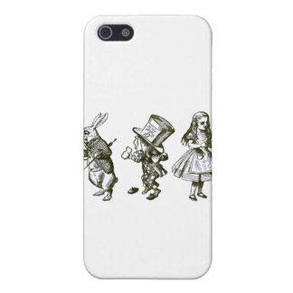 不思議の国からのウサギ、帽子屋及びアリス iPhone 5 COVER