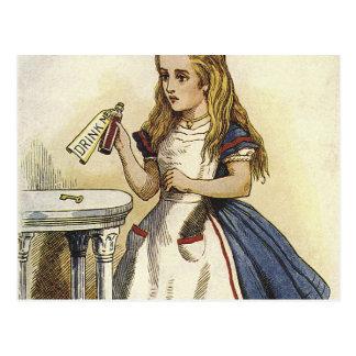 不思議の国のおもしろいのアリス ポストカード
