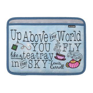 不思議の国のお洒落な茶Carrollの引用文のアリス MacBook スリーブ