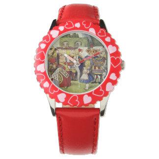 不思議の国のアリスおよびハートの腕時計の女王 腕時計