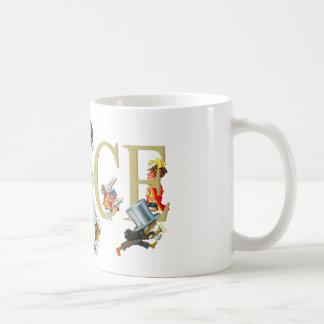 不思議の国のアリスおよび友人 コーヒーマグカップ