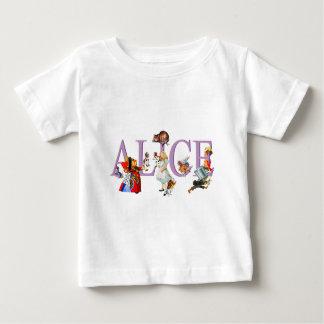 不思議の国のアリスおよび友人 ベビーTシャツ