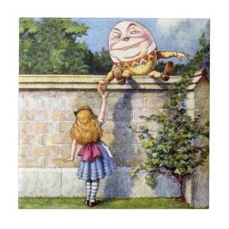 不思議の国のアリスおよびHumpty Dumpty タイル