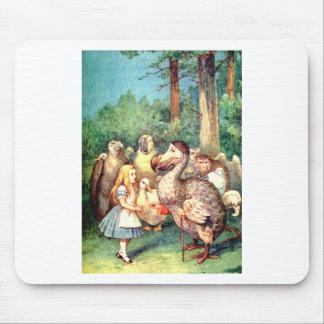 不思議の国のアリスそしてドードーの鳥 マウスパッド