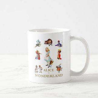 不思議の国のアリスそして友人 コーヒーマグカップ