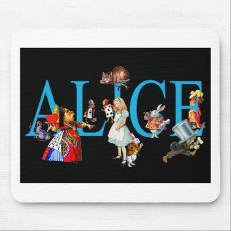 不思議の国のアリスそして友人 マウスパッド