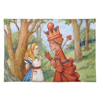 不思議の国のアリスそして赤い女王 ランチョンマット