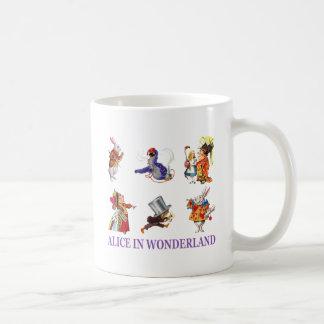 不思議の国のアリス及び友人 コーヒーマグカップ