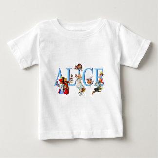 不思議の国のアリス及び友人 ベビーTシャツ