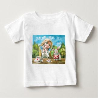 不思議の国のアリス白いウサギゴードンブルース ベビーTシャツ