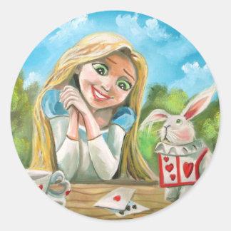 不思議の国のアリス白いウサギゴードンブルース ラウンドシール