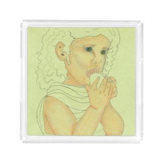「不思議の国のアリス」のイメージのアクリルの皿 トレー
