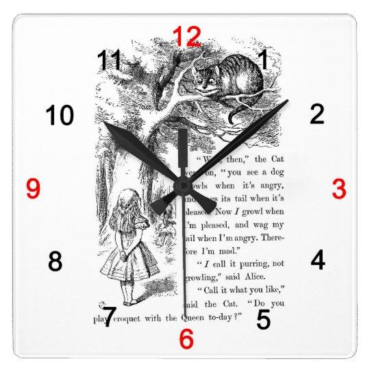 「不思議の国のアリス」の壁掛け時計,No.02 スクエア壁時計