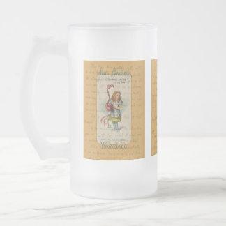 不思議の国のアリス: アリスおよびフラミンゴ フロストグラスビールジョッキ