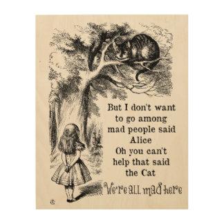 不思議の国のアリス; アリスを持つチェシャー猫 ウッドウォールアート
