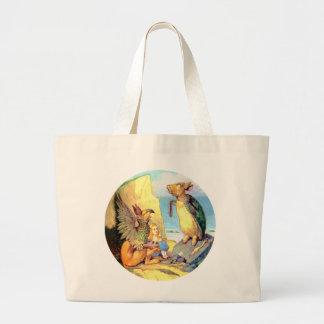 不思議の国のアリス、グリフィン及び擬似カメ ラージトートバッグ