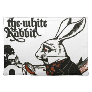 不思議の国のアリス; 演劇。 白いウサギ ランチョンマット