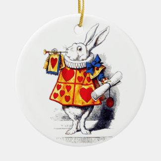 不思議の国のアリスTenniel著白いウサギ セラミックオーナメント