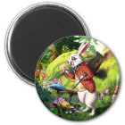 不思議の国のイースター磁石の白いウサギ Alice マグネット