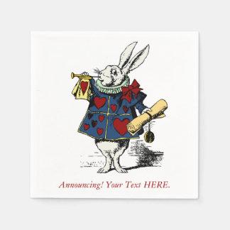 不思議の国のウサギのカスタムな発表アリス スタンダードカクテルナプキン