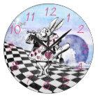 不思議の国のウサギの布告者のアリス ラージ壁時計