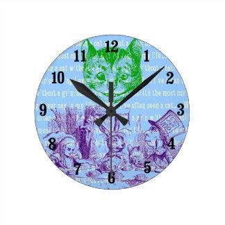不思議の国のカスタマイズ可能なヴィンテージアリス ラウンド壁時計