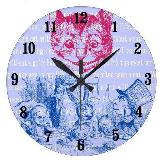不思議の国のカスタマイズ可能なヴィンテージアリス ラージ壁時計