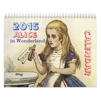 不思議の国のカレンダーの2015年のアリス カレンダー