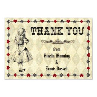 不思議の国のサンキューカードのアリス-結婚式 カード