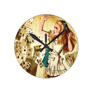 不思議の国のトランプのアリス ラウンド壁時計