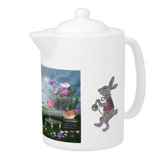 不思議の国のフラミンゴのチェシャー猫のウサギのお茶会