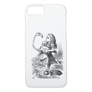 不思議の国のフラミンゴのcroquetのヴィンテージのアリス iPhone 8/7ケース