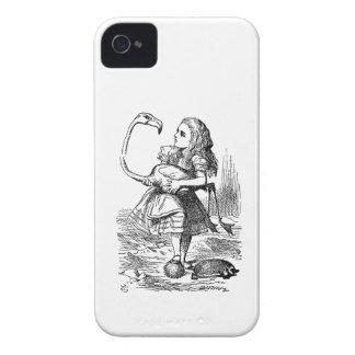 不思議の国のフラミンゴのcroquetのヴィンテージのプリントのアリス Case-Mate iPhone 4 ケース