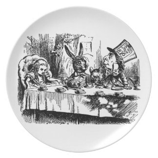 不思議の国のメラミンプレートの絵アリス 皿