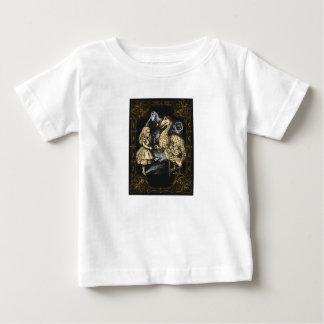 不思議の国のワイシャツのドードーそしてアリス ベビーTシャツ