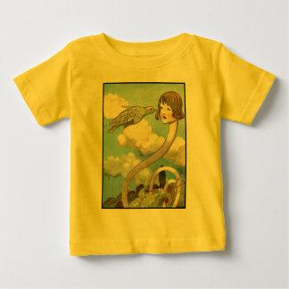 不思議の国のヴィンテージのイラストレーションのアリス ベビーTシャツ