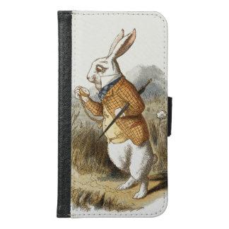 不思議の国のヴィンテージの芸術のアリスからの白いウサギ GALAXY S6 ウォレットケース