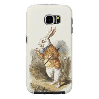 不思議の国のヴィンテージの芸術のアリスからの白いウサギ SAMSUNG GALAXY S6 ケース
