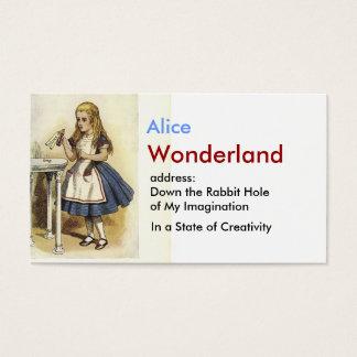 不思議の国の名刺のアリス 名刺