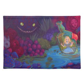 不思議の国の布のランチョンマットのアリス ランチョンマット