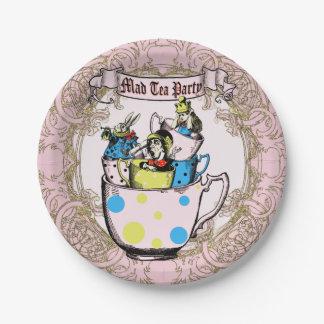 不思議の国の帽子屋のお茶会アリス ペーパープレート