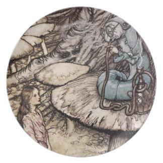 不思議の国の幼虫のプレートのアリス お皿
