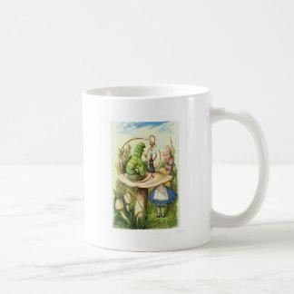 不思議の国の幼虫の喫煙の水ぎせるのアリス コーヒーマグカップ