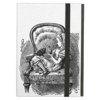 不思議の国の本のスケッチのemoのゴシックのヴィンテージアリス iPad airケース