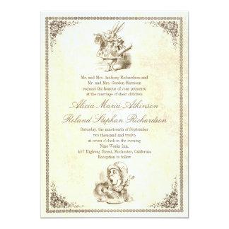 不思議の国の物語の結婚式招待状のアリス カード