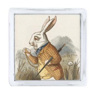 不思議の国の白いウサギのアリス私は遅れます シルバー ラペルピン