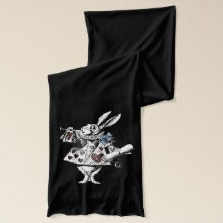 不思議の国の白いウサギのスカーフのヴィンテージアリス スカーフ
